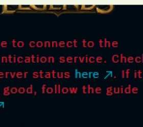 "LOL英雄联盟美服pbe测试服出现""Unable to connect to the authentication service"""